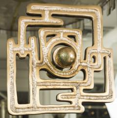 Luciano Frigerio Vintage Brass Bronze Mirror By Luciano Frigerio - 1608899