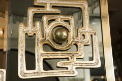 Luciano Frigerio Vintage Brass Bronze Mirror By Luciano Frigerio - 1608905