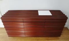 Luciano Frigerio Walnut sideboard by Luciano FRIGERIO Italy circa 1975  - 1057991