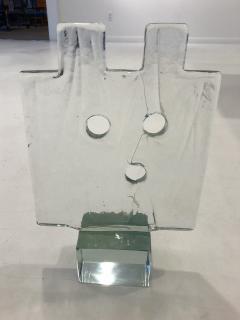 Luciano Gaspari Luciano Gaspari Glass Sculpture on Custom Lamp Pedestal - 2091024