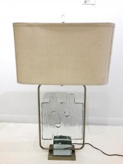 Luciano Gaspari Luciano Gaspari Glass Sculpture on Custom Lamp Pedestal - 2091031