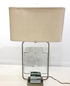 Luciano Gaspari Luciano Gaspari Glass Sculpture on Custom Lamp Pedestal - 2091032