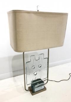 Luciano Gaspari Luciano Gaspari Glass Sculpture on Custom Lamp Pedestal - 2091033
