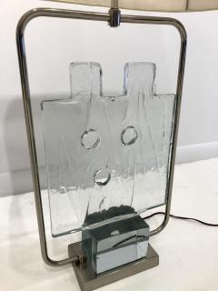Luciano Gaspari Luciano Gaspari Glass Sculpture on Custom Lamp Pedestal - 2091034