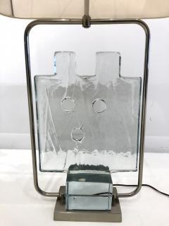 Luciano Gaspari Luciano Gaspari Glass Sculpture on Custom Lamp Pedestal - 2091036