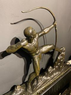 Lucien Gibert Lucien Gibert Bronze Statue The Archer French Art Deco Sculpture - 1748764