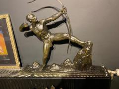 Lucien Gibert Lucien Gibert Bronze Statue The Archer French Art Deco Sculpture - 1748766
