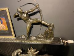 Lucien Gibert Lucien Gibert Bronze Statue The Archer French Art Deco Sculpture - 1748775