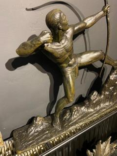 Lucien Gibert Lucien Gibert Bronze Statue The Archer French Art Deco Sculpture - 1748777