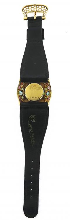 Lucien Piccard Lucien Piccard Multicolored Gem Leather Strap Watch - 201118