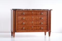 Lucien Rollin Lucien Rollin Commode with Rosewood Marquetry and Red Marble Top France 1945 - 1801343