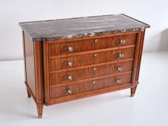 Lucien Rollin Lucien Rollin Commode with Rosewood Marquetry and Red Marble Top France 1945 - 1801344