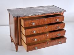 Lucien Rollin Lucien Rollin Commode with Rosewood Marquetry and Red Marble Top France 1945 - 1801346
