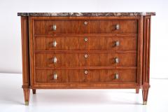 Lucien Rollin Lucien Rollin Commode with Rosewood Marquetry and Red Marble Top France 1945 - 1801349