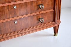 Lucien Rollin Lucien Rollin Commode with Rosewood Marquetry and Red Marble Top France 1945 - 1801351