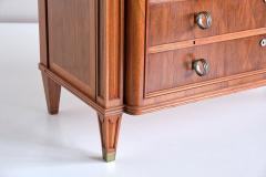 Lucien Rollin Lucien Rollin Commode with Rosewood Marquetry and Red Marble Top France 1945 - 1801352
