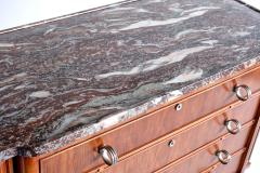 Lucien Rollin Lucien Rollin Commode with Rosewood Marquetry and Red Marble Top France 1945 - 1801353