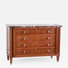 Lucien Rollin Lucien Rollin Commode with Rosewood Marquetry and Red Marble Top France 1945 - 1804019