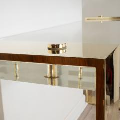 Lucite and brass console table - 1306500