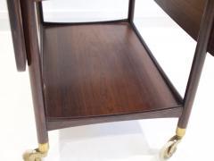 Ludvig Pontoppidan Ludvig Pontoppidan Wooden Serving Table with Black Formica Top - 1255781