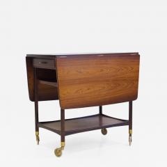 Ludvig Pontoppidan Ludvig Pontoppidan Wooden Serving Table with Black Formica Top - 1257171