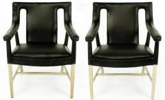 Ludvig Pontoppidan Pair of Black Leather Ejner Larsen and Aksel Bender Madsen Lounge Chair LP48 - 873046