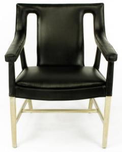 Ludvig Pontoppidan Pair of Black Leather Ejner Larsen and Aksel Bender Madsen Lounge Chair LP48 - 873048