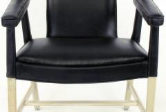 Ludvig Pontoppidan Pair of Black Leather Ejner Larsen and Aksel Bender Madsen Lounge Chair LP48 - 873052