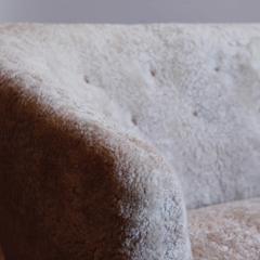 Ludvig Pontoppidan Three Seat Shearling Sofa by Ludvig Pontoppidan - 1227792