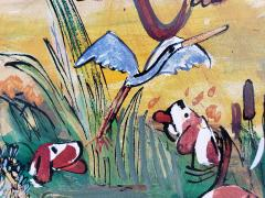 Ludwig Bemelmans Dogs Hounds on Foxhunt Pheasant Duck Black Bird Owl Squirrel Crane Porcupine - 1058165