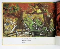 Ludwig Bemelmans Dogs Hounds on Foxhunt Pheasant Duck Black Bird Owl Squirrel Crane Porcupine - 1058171