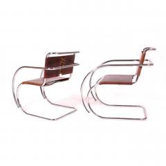 Ludwig Mies Van Der Rohe Armchairs by Mies Van Der Rohe Imported by Stendig - 483448
