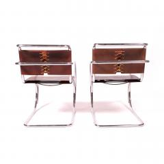 Ludwig Mies Van Der Rohe Armchairs by Mies Van Der Rohe Imported by Stendig - 483449