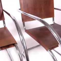 Ludwig Mies Van Der Rohe Armchairs by Mies Van Der Rohe Imported by Stendig - 483452