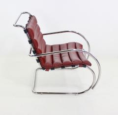 Ludwig Mies Van Der Rohe Classic Mid Century Modern Chrome Leather Lounge Chairs by Mies Van Der Rohe - 1039130