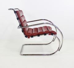 Ludwig Mies Van Der Rohe Classic Mid Century Modern Chrome Leather Lounge Chairs by Mies Van Der Rohe - 1039131