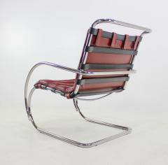 Ludwig Mies Van Der Rohe Classic Mid Century Modern Chrome Leather Lounge Chairs by Mies Van Der Rohe - 1039134