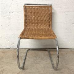 Ludwig Mies Van Der Rohe Early Mies Van Der Rohe MR 10 Chair in Wicker and Chrome Steel Italy 1950s - 1657785