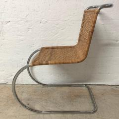Ludwig Mies Van Der Rohe Early Mies Van Der Rohe MR 10 Chair in Wicker and Chrome Steel Italy 1950s - 1657810