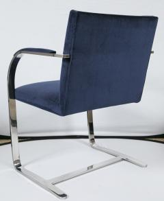 Ludwig Mies Van Der Rohe Flat Bar Brno Chair in Navy Velvet - 245498