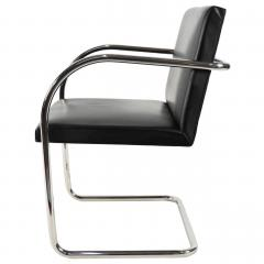 Ludwig Mies Van Der Rohe Knoll Brno Chairs in Black Leather - 1244674