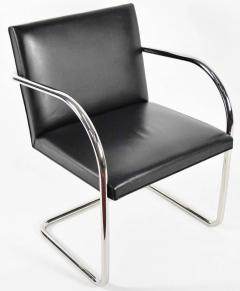 Ludwig Mies Van Der Rohe Knoll Brno Chairs in Black Leather - 1244675