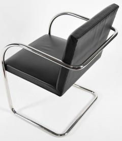Ludwig Mies Van Der Rohe Knoll Brno Chairs in Black Leather - 1244682