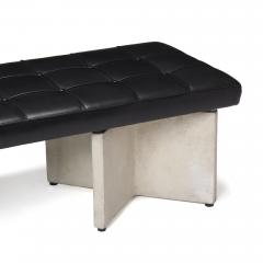 Ludwig Mies Van Der Rohe LUDWIG MIES VAN DER ROHE CONCRETE AND LEATHER BENCH - 1453366
