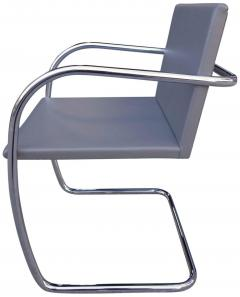 Ludwig Mies Van Der Rohe Midcentury Brno Chairs in Leather by Mies van der Rohe for Knoll - 556277
