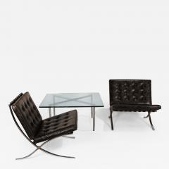 Ludwig Mies Van Der Rohe Museum Quality Ludwig Mies van der Rohe Barcelona Chairs with Table - 1393035