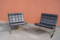Ludwig Mies Van Der Rohe Pair of Barcelona Chairs by Mies van der Rohe for Knoll - 937239