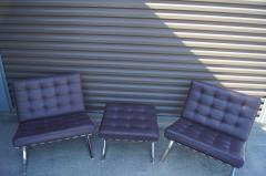 Ludwig Mies Van Der Rohe Pair of Barcelona Chairs with Single Ottoman by Mies van der Rohe for Knoll - 955931