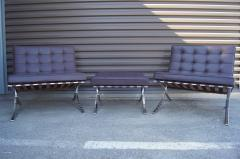 Ludwig Mies Van Der Rohe Pair of Barcelona Chairs with Single Ottoman by Mies van der Rohe for Knoll - 955932