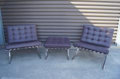 Ludwig Mies Van Der Rohe Pair of Barcelona Chairs with Single Ottoman by Mies van der Rohe for Knoll - 955933